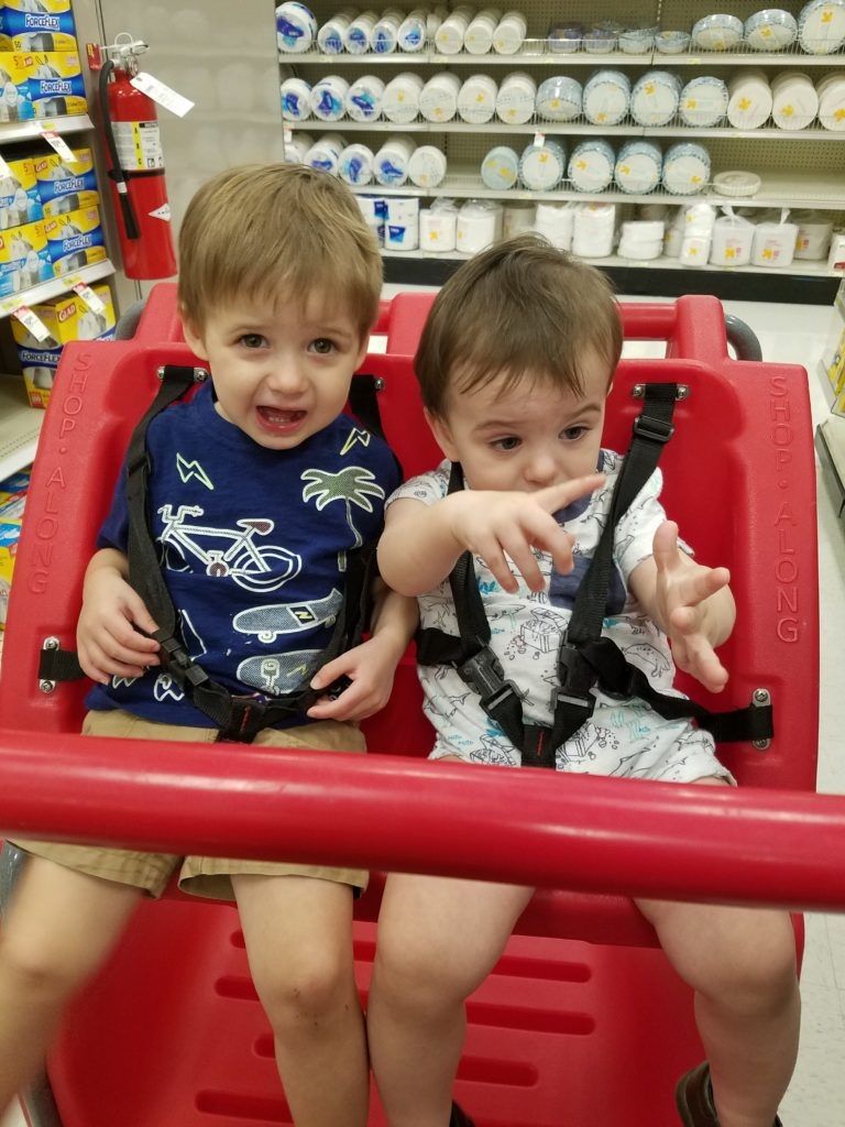 Toddlers at Target