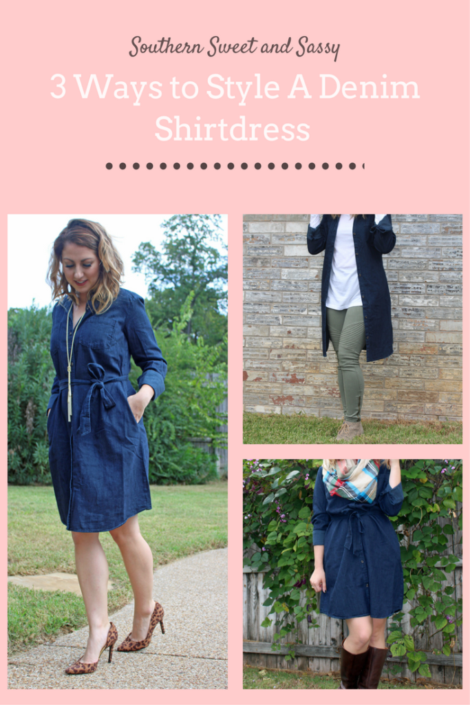 3 Ways to Style a Denim Shirt Dress