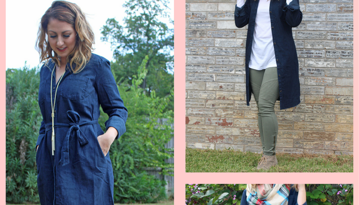 Three Ways to Style a Denim Shirtdress