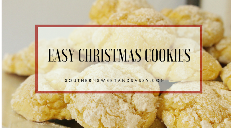 Easy Christmas Cookies, Gooey Butter Cookies