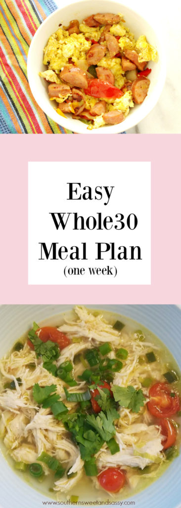 Simple meals to get you through a week of Whole30. Keep it simple. Keep it clean - eating, that is.
