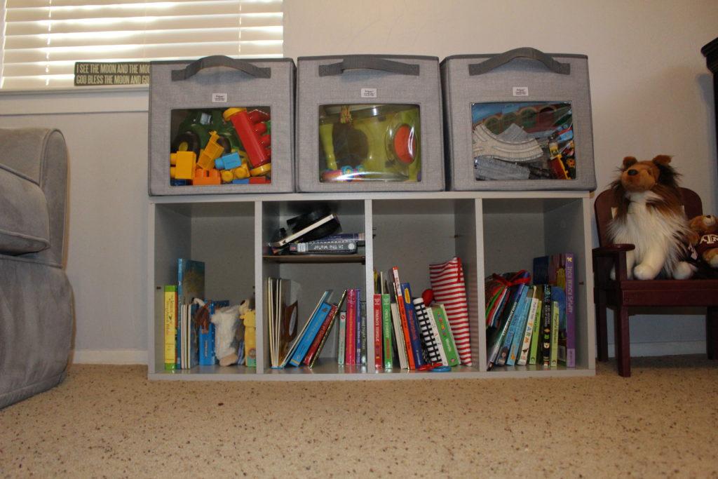 grey nursery, thirty one storage cube