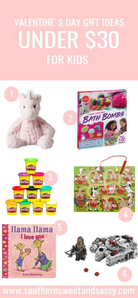 Gifts for your little Valentines that they will enjoy. Gifts under $30 for your kids, toddlers, babies