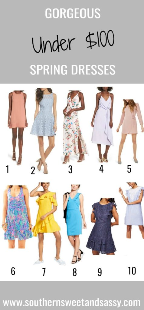 Ten beautiful spring dresses under $100