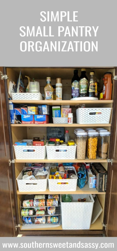 Simple tips and tricks to organize a small pantry...and keeping it organized!